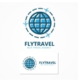 world travel logo vector image vector image