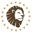 lion head emblem vector image