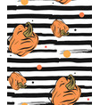 hand drawn abstract seamless autumn pattern vector image