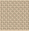 3d beige seamless abstract geometric pattern vector image