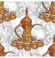 Arabic coffee maker dalla with cups vector image vector image