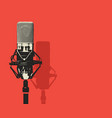 banner with microphone and place for text vector image