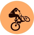 bicycle racer vector image vector image