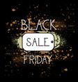 black friday shopping tag holiday sale concept vector image vector image