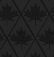 Black textured plastic solid maple leaves vector image vector image