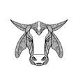 brahma bull head mandala vector image vector image
