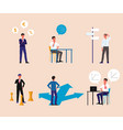 businessman making a business decision - flat vector image vector image
