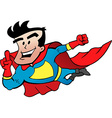 Cartoon of an Flying Super Hero vector image vector image