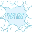 Cartoon pop art clouds frame white and blue vector image