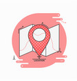 check point creative symbol concept flat thin vector image vector image