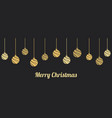 christmas hanging ornaments balls vector image vector image
