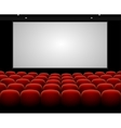 Cinema auditorium with blank screen vector image