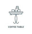 coffee table line icon coffee table vector image vector image