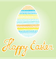 colorful easter egg happy easter inscription vector image vector image