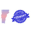composition of gradiented dotted map of vermont vector image vector image