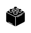 constructor bricks icon vector image vector image