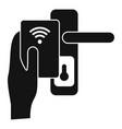 control smart door lock icon simple style vector image vector image