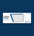 corporate facebook cover template design vector image vector image