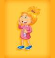 cute little girl smiling in standing position vector image