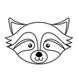 cute raccoon face cartoon vector image vector image