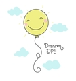 cute smiling balloon vector image