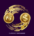 digital currency money exchange namecoin vector image vector image