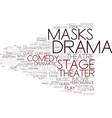 drama word cloud concept vector image vector image