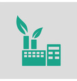 Ecological industrial plant icon vector image vector image
