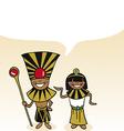 Egyptian cartoon couple bubble dialogue vector image vector image