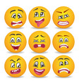 emoticons or smileys icons set for web vector image vector image