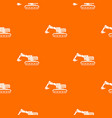 excavator pattern seamless vector image vector image
