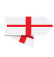 flag of england on a label vector image vector image
