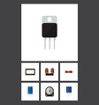 flat icon electronics set of coil copper vector image vector image