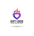 gift shop logo design vector image