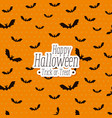 halloween card with bats flying pattern vector image vector image