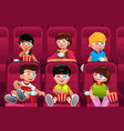 happy kids going to a movie vector image