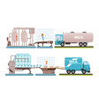 industrial production milk set processing of vector image vector image