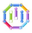 kid toy constructor set cartoon icon vector image vector image