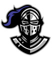 knight helmat mascot vector image vector image