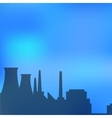 Landscape urban silhouette vector image vector image