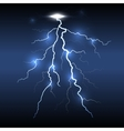 Lightning flash strike dark background vector image vector image
