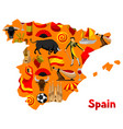 map spain background design spanish vector image