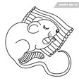 mouse or rat sleeping on pillo vector image vector image