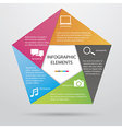 Pentagonal Infographic vector image vector image