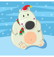 Polar Bear Christmas vector image vector image