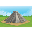 Pyramid of the sun Chichen Itza vector image