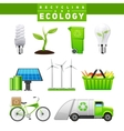 Recycling And Ecology Images Set vector image vector image