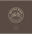 retro bike logo cycling club emblem vector image vector image