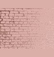 rose gold brick wall luxury gold background gold vector image vector image