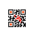 sample qr code for smartphone scanning icon vector image